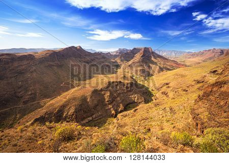 Mountain landscape of Gran Canaria island, Spain