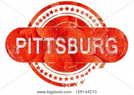 pittsburg, vintage old stamp with rough lines and edges
