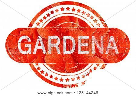 gardena, vintage old stamp with rough lines and edges