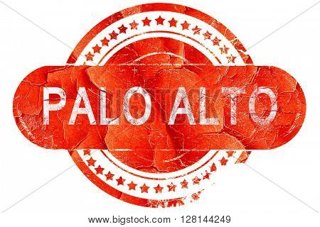 palo alto, vintage old stamp with rough lines and edges