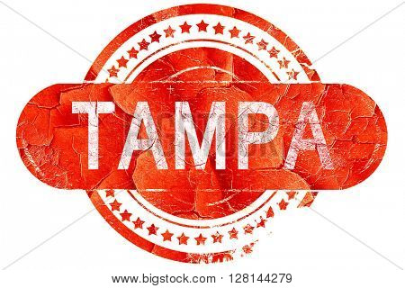 tampa, vintage old stamp with rough lines and edges