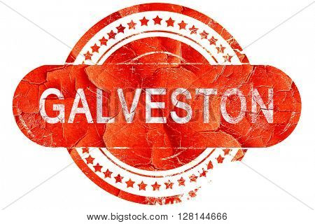 galveston, vintage old stamp with rough lines and edges