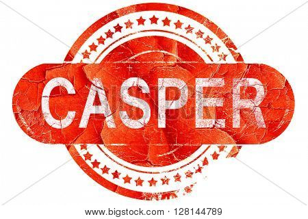 casper, vintage old stamp with rough lines and edges