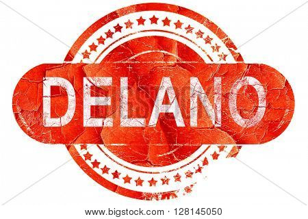 delano, vintage old stamp with rough lines and edges