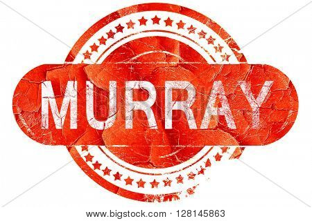 murray, vintage old stamp with rough lines and edges