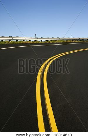 Winding road in Haleakala National Park, Maui, Hawaii.