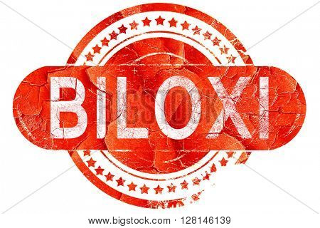 biloxi, vintage old stamp with rough lines and edges