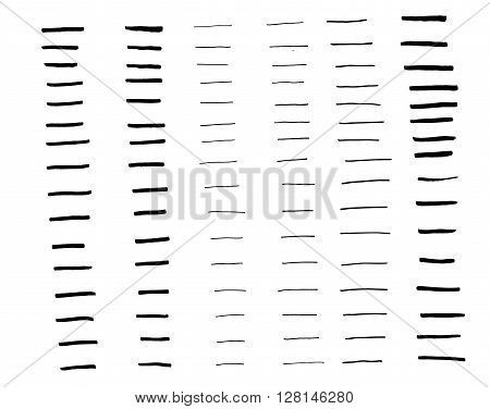 Collection art brush 96 item set vector for illustration