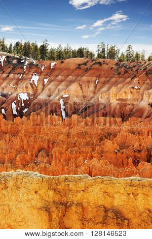 colorful scenes in the Bryce Canyon landscape