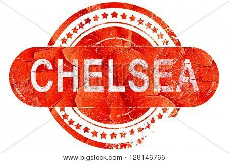 chelsea, vintage old stamp with rough lines and edges
