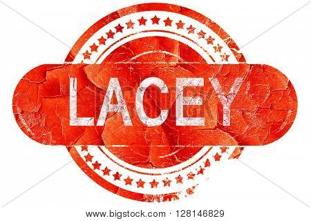 lacey, vintage old stamp with rough lines and edges