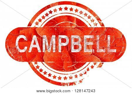campbell, vintage old stamp with rough lines and edges