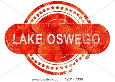 lake oswego, vintage old stamp with rough lines and edges
