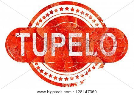 tupelo, vintage old stamp with rough lines and edges
