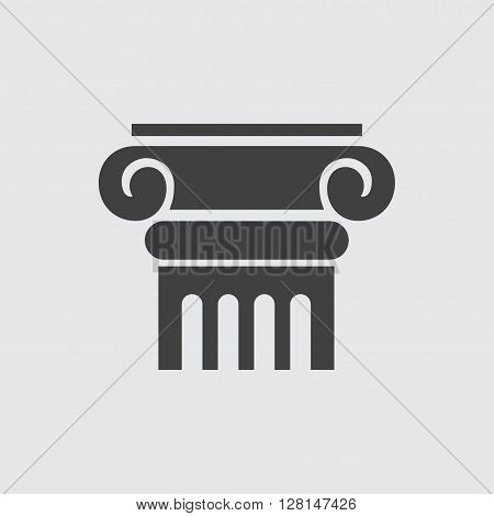 Column icon illustration isolated vector sign symbol