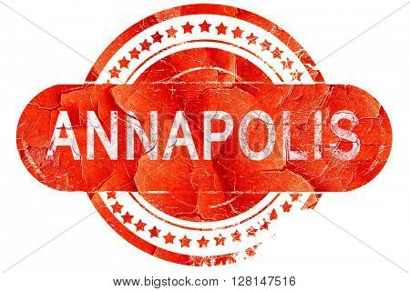 annapolis, vintage old stamp with rough lines and edges