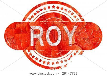 roy, vintage old stamp with rough lines and edges