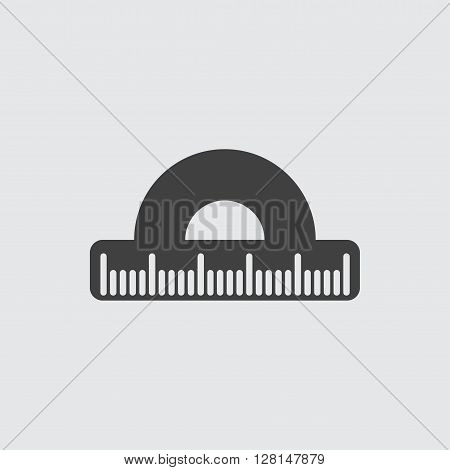 Protractor icon illustration isolated vector sign symbol