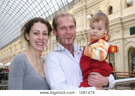 Family With Baby In Shop