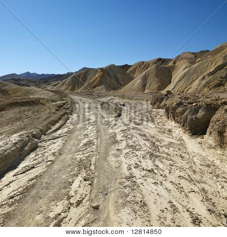 Dirt road through Death Valley National Park.