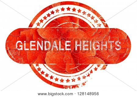 glendale heights, vintage old stamp with rough lines and edges