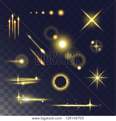 Light effect vector illustration.