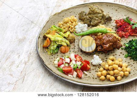 ethiopian cuisine, one plate dinner