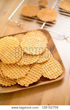Crispy homemade Pizzelle cookie