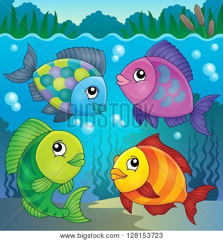 Fish topic image 5 - eps10 vector illustration.