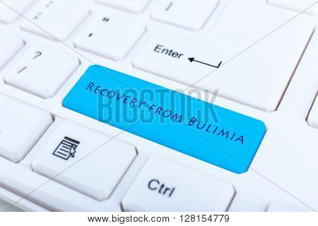 Close up of Recovery from Bulimia keyboard button