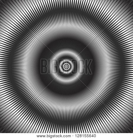 Abstract circular background. Vector art.