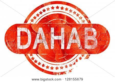 dahab, vintage old stamp with rough lines and edges