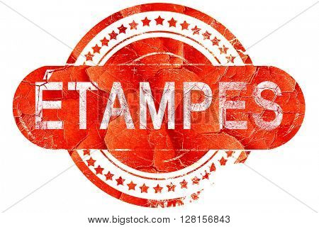 etampes, vintage old stamp with rough lines and edges