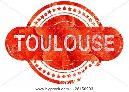 toulouse, vintage old stamp with rough lines and edges