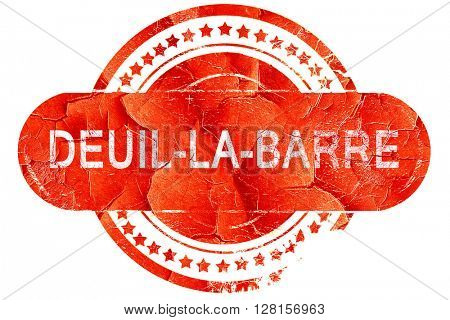 deuil-la-barre, vintage old stamp with rough lines and edges