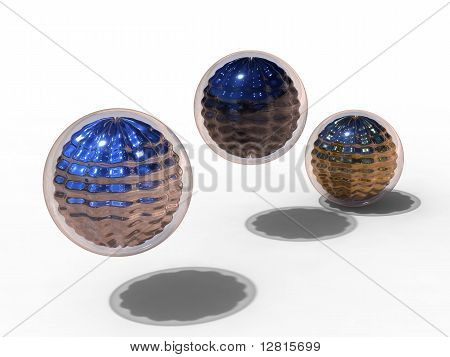 Metallic And Glass Sphere