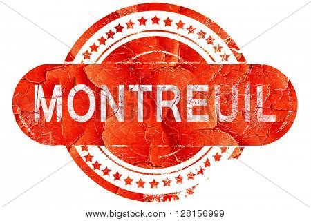 montreuil, vintage old stamp with rough lines and edges