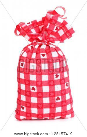 Gift lavender sack plaid cloth bag with hearts