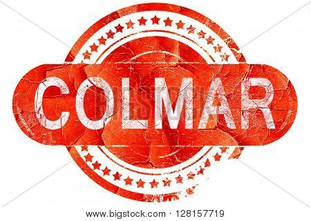 colmar, vintage old stamp with rough lines and edges