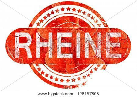 Rheine, vintage old stamp with rough lines and edges