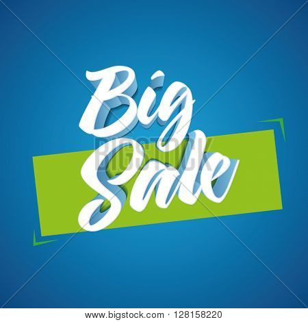 Vector 3d Big Sale design. Elements are layered separately in vector file. Easy editable. CMYK color mode. Print ready.