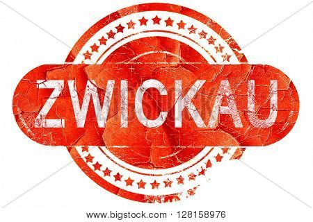 Zwickau, vintage old stamp with rough lines and edges
