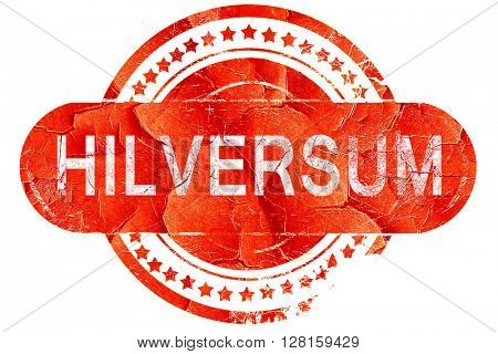 Hilversum, vintage old stamp with rough lines and edges