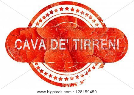 Cava de tirreni, vintage old stamp with rough lines and edges