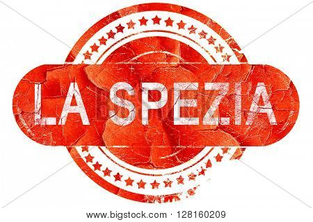 La spezia, vintage old stamp with rough lines and edges