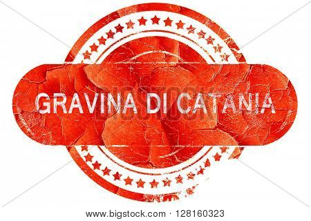 Gravina di catania, vintage old stamp with rough lines and edges