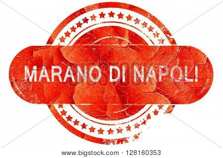 Marano di napoli, vintage old stamp with rough lines and edges