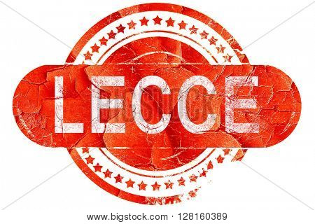 Lecce, vintage old stamp with rough lines and edges
