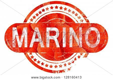 Marino, vintage old stamp with rough lines and edges