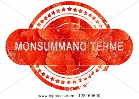 Monsummano terme, vintage old stamp with rough lines and edges